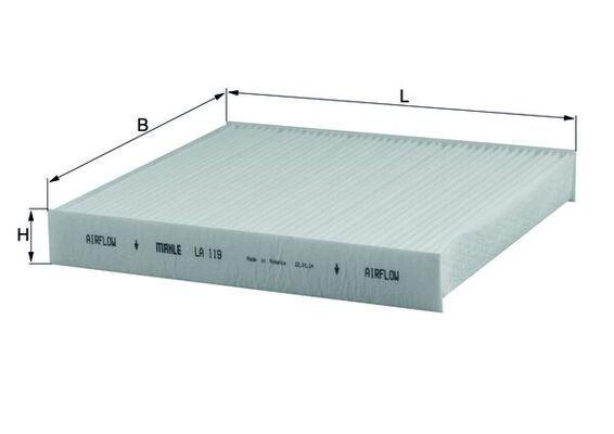 MAHLE ORIGINAL Filter, Innenraumluft LA 119