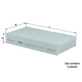 76418925 MAHLE ORIGINAL Partikelfilter Breite: 95,0mm, Höhe: 30,0mm Filter, Innenraumluft LA 168/S günstig kaufen