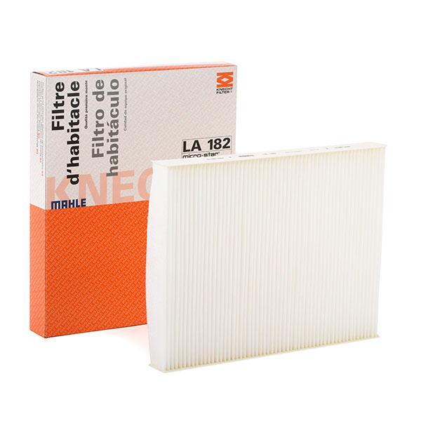 LAO182 MAHLE ORIGINAL Partikelfilter Breite: 217,0mm, Höhe: 30,0mm Filter, Innenraumluft LA 182 günstig kaufen
