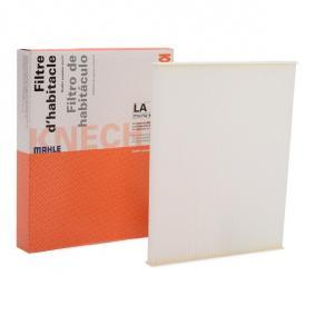 LAO373 MAHLE ORIGINAL Particulate Filter Width: 264,0mm, Height: 19,0mm Filter, interior air LA 306 cheap