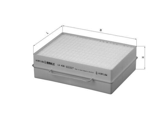 MAHLE ORIGINAL Filtr, wentylacja przestrzeni pasażerskiej do SCANIA - numer produktu: LA 432
