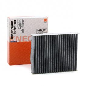 LA141 MAHLE ORIGINAL Charcoal Filter Width: 141,0mm, Height: 30,0mm Filter, interior air LAK 141 cheap