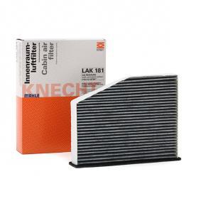 LAO181 MAHLE ORIGINAL Aktivkohlefilter Breite: 273,0mm, Breite: 285,0mm, Höhe: 57,0mm Filter, Innenraumluft LAK 181 günstig kaufen