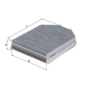 79936501 MAHLE ORIGINAL Aktivkohlefilter Breite: 183,0mm, Höhe: 45,0mm Filter, Innenraumluft LAK 364 günstig kaufen