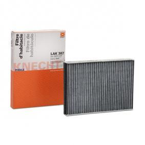 LAO387 MAHLE ORIGINAL Aktivkohlefilter Breite: 193,0mm, Höhe: 30,0mm Filter, Innenraumluft LAK 387 günstig kaufen