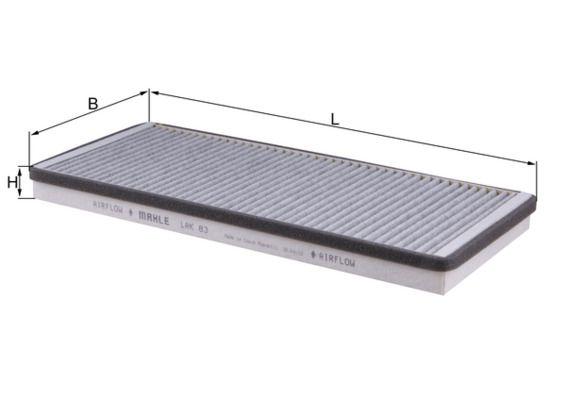 MAHLE ORIGINAL Filter, Innenraumluft LAK 83