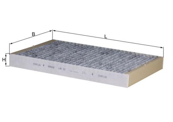 LAK93 Филтър, въздух за вътрешно пространство MAHLE ORIGINAL - на по-ниски цени