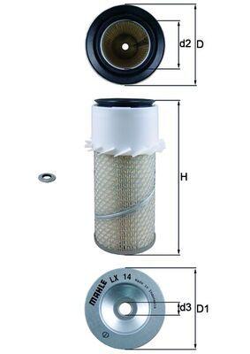 LX 14 MAHLE ORIGINAL Luftfilter für AVIA online bestellen