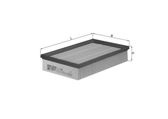 Zracni filter LX 1596 z izjemnim razmerjem med MAHLE ORIGINAL ceno in zmogljivostjo