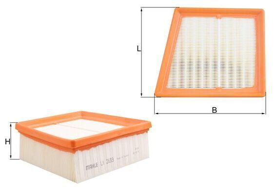 LX2633 Luftfilter MAHLE ORIGINAL - Køb til discount priser