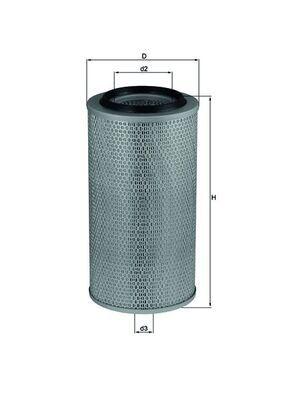 MAHLE ORIGINAL Filtr powietrza do MERCEDES-BENZ - numer produktu: LX 265