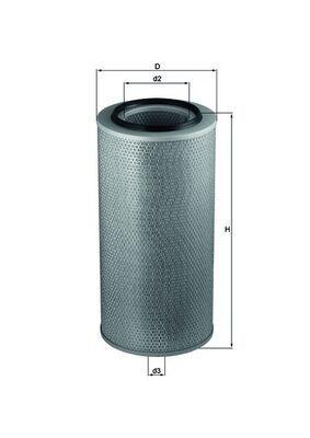LX 271 MAHLE ORIGINAL Luftfilter für STEYR online bestellen