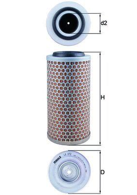 77716525 MAHLE ORIGINAL Filtereinsatz Höhe: 227mm, Höhe 1: 218mm Luftfilter LX 272 günstig kaufen