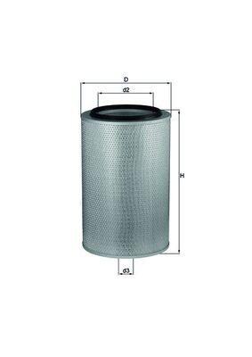 LX 273 MAHLE ORIGINAL Luftfilter für IVECO TurboStar jetzt kaufen