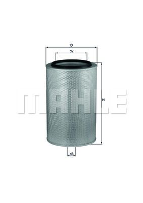 LX 273 MAHLE ORIGINAL Filtr powietrza do IVECO TurboStar - kup teraz