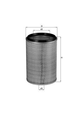 LX 28 MAHLE ORIGINAL Luftfilter für FORD online bestellen