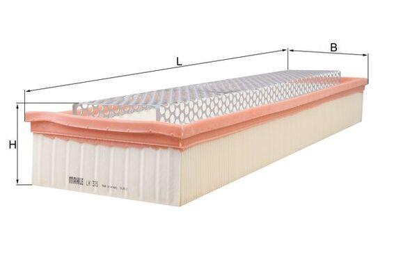 Въздушен филтър LX 335 с добро MAHLE ORIGINAL съотношение цена-качество