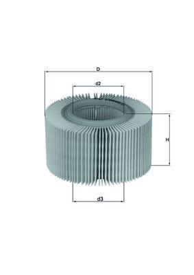 Moto MAHLE ORIGINAL Filtereinsatz Höhe: 88mm Luftfilter LX 578 günstig kaufen