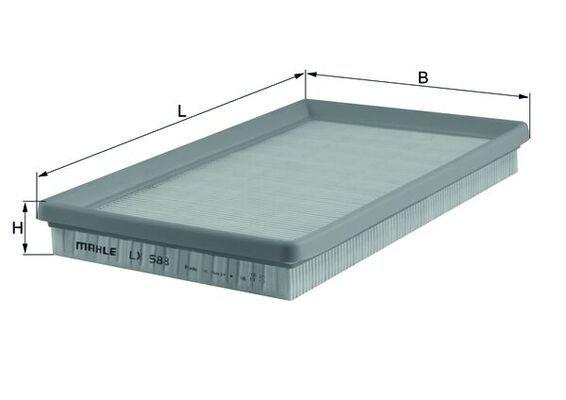 MAHLE ORIGINAL Luftfilter LX 588