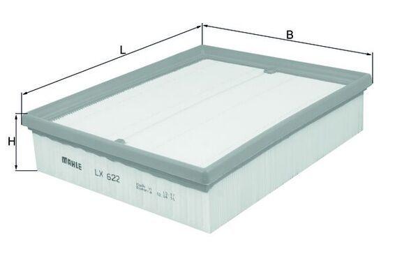 LX 622 Zracni filter MAHLE ORIGINAL - poceni izdelkov blagovnih znamk
