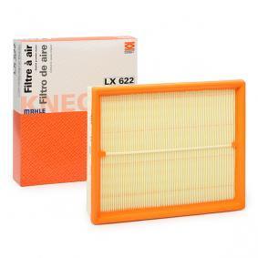 Pirkti 78796534 MAHLE ORIGINAL filtro įdėklas bendras ilgis: 254,0mm, plotis: 212,5mm, aukštis: 57,3mm Oro filtras LX 622 nebrangu