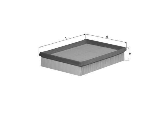 Origine Filtre à air MAHLE ORIGINAL LX 643 (Longueur coque: 205,0mm, Longueur: 212,0mm, Largeur: 170mm, Hauteur: 42mm, Hauteur 1: 43mm)