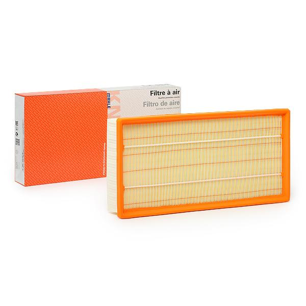 MAHLE ORIGINAL: Original Luftfilter LX 684 (Länge über Alles: 359,0mm, Länge: 364,0mm, Breite: 184,5, 185mm, Breite 1: 184,5mm, Höhe: 50mm)
