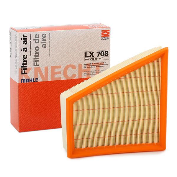 Luftfilter LX 708 med et enestående MAHLE ORIGINAL pris-ydelses-forhold