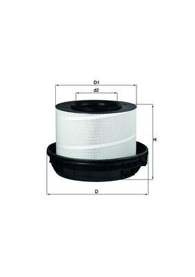 MAHLE ORIGINAL Filtr powietrza do MERCEDES-BENZ - numer produktu: LX 814/1