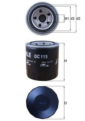 OC 115 Motorölfilter MAHLE ORIGINAL in Original Qualität