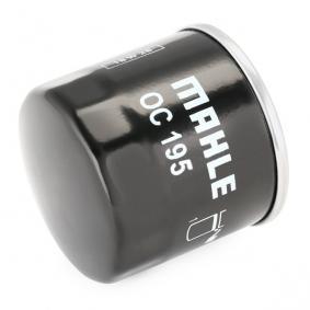 78636334 MAHLE ORIGINAL Filtro aparafusado Diâmetro interior 2: 54,5mm, Diâmetro interior 2: 55,0mm, Ø: 65,5mm, Altura: 66,5mm Filtro de óleo OC 195 comprar económica