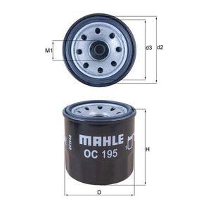 OC 195 Alyvos filtras MAHLE ORIGINAL - Pigus kokybiški produktai