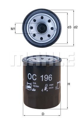 OC196 Oil Filter MAHLE ORIGINAL - Experience and discount prices