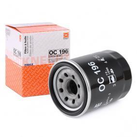 78636359 MAHLE ORIGINAL Anschraubfilter Innendurchmesser 2: 54,5mm, Innendurchmesser 2: 53,0mm, Außendurchmesser 2: 62,9mm, Außendurchmesser 2: 62,0mm, Ø: 65,5mm, Höhe: 86,5mm, Höhe: 87,7mm, Höhe 1: 85,0mm Ölfilter OC 196 günstig kaufen