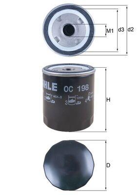 77490386 MAHLE ORIGINAL Screw-on Filter Ø: 76,0mm, Ø: 76,0mm, Height: 93mm Oil Filter OC 198 cheap