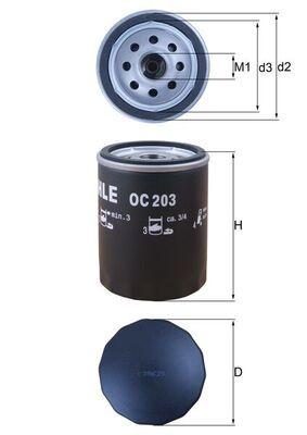 77493737 MAHLE ORIGINAL Anschraubfilter Innendurchmesser 2: 62mm, Innendurchmesser 2: 62mm, Ø: 76,0mm, Außendurchmesser 2: 72mm, Ø: 76,0mm, Höhe: 101mm Ölfilter OC 203 günstig kaufen