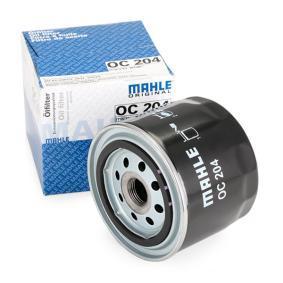 77493760 MAHLE ORIGINAL Skruvfilter Innerdiameter 2: 62,0mm, Ø: 93,2mm, H: 81,0mm Oljefilter OC 204 köp lågt pris