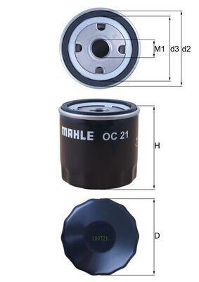 OC21 Motorölfilter MAHLE ORIGINAL 72014397 - Große Auswahl - stark reduziert