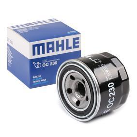 78753352 MAHLE ORIGINAL Anschraubfilter Innendurchmesser 2: 59,7mm, Außendurchmesser 2: 63,0mm, Ø: 76,0mm, Höhe: 65,6mm, Höhe 1: 65,0mm Ölfilter OC 230 günstig kaufen