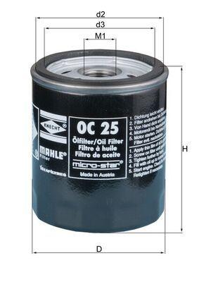 MAHLE ORIGINAL Oil Filter OC 25