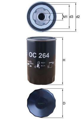 Oljefilter OC 264 från MAHLE ORIGINAL