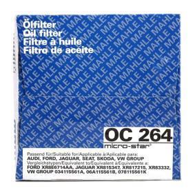 OC 264 Õlifilter MAHLE ORIGINAL originaal kvaliteediga