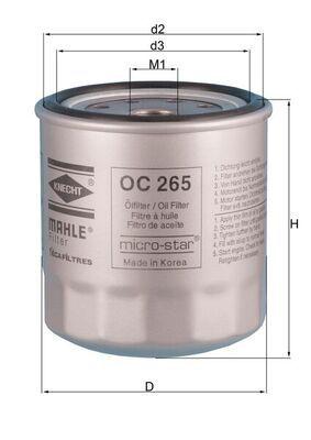 ISUZU ELF 2014 Ölfilter - Original MAHLE ORIGINAL OC 265 Innendurchmesser 2: 78mm, Innendurchmesser 2: 78mm, Ø: 93,2mm, Außendurchmesser 2: 90mm, Ø: 93,2mm, Höhe: 98mm