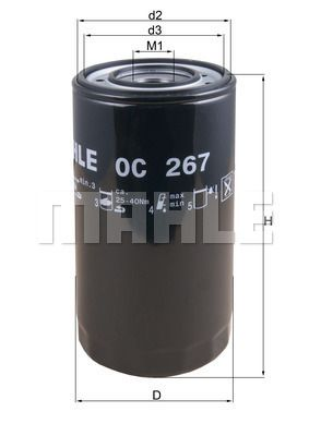 OC 267 MAHLE ORIGINAL Oil Filter for IVECO PowerStar - buy now