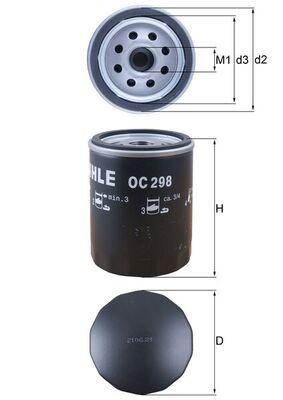 MAHLE ORIGINAL Ölfilter OC 298