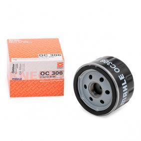 Kupi 76887210 MAHLE ORIGINAL Filter s navojem Notranji premer 2: 62,0mm, Ø: 76,0mm, Visina: 55,0mm Oljni filter OC 306 poceni