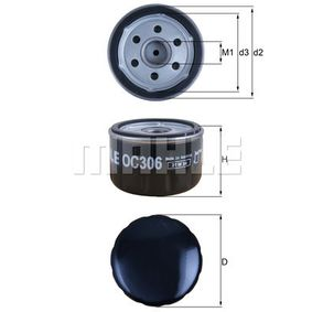 OC306 Oljni filter MAHLE ORIGINAL - Znižane cene