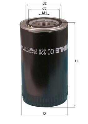 MAHLE ORIGINAL Filtro olio per BMC – numero articolo: OC 320