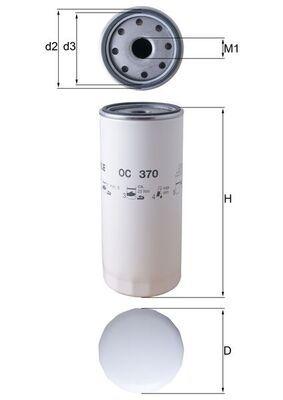 OC 370 MAHLE ORIGINAL Filtre à huile pour VOLVO FM II - à acheter dès maintenant