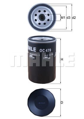 OC 479 Filter MAHLE ORIGINAL - Markenprodukte billig